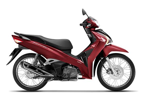 Honda Future 125 phiên bản vành nan hoamàu đỏ đen