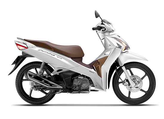 Honda Future 125 Phiên bản vành đúc màu trắng nâu đen