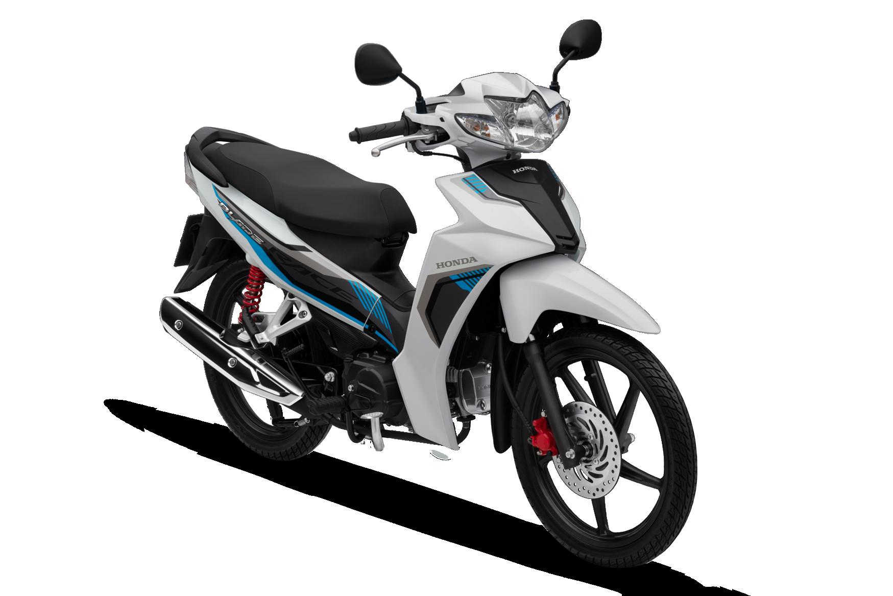 Honda Blade 2020 phiên bản thể thao vành đúc phanh đĩa màu trắng đen