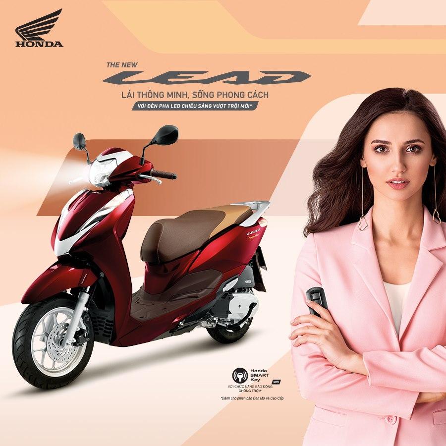 Honda Lead 2020 được thiết kế hoàn toàn mới với những đường nét thon gọn, thanh lịch ôm sát người lái