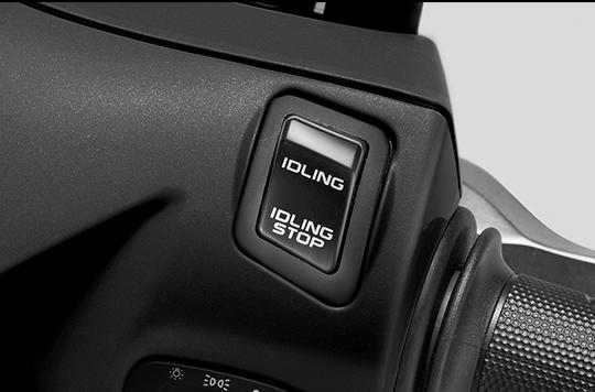 Honda Vision mới được gắn thêm hệ thống ngắt động cơ tạm thời (Idling Stop)