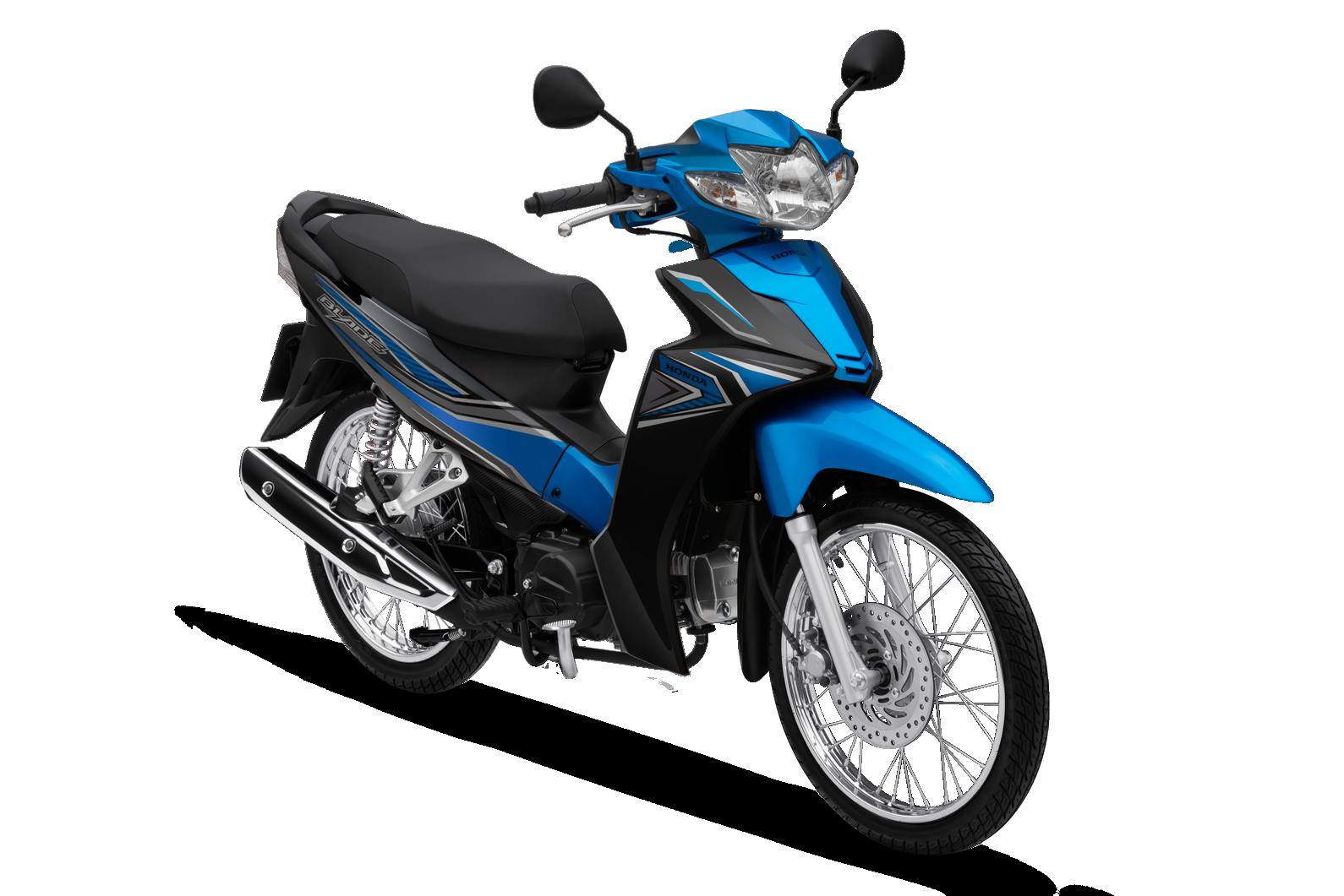 Honda Blade phiên bản tiêu chuẩn (phanh cơ, vành nan hoa) màu xanh đen