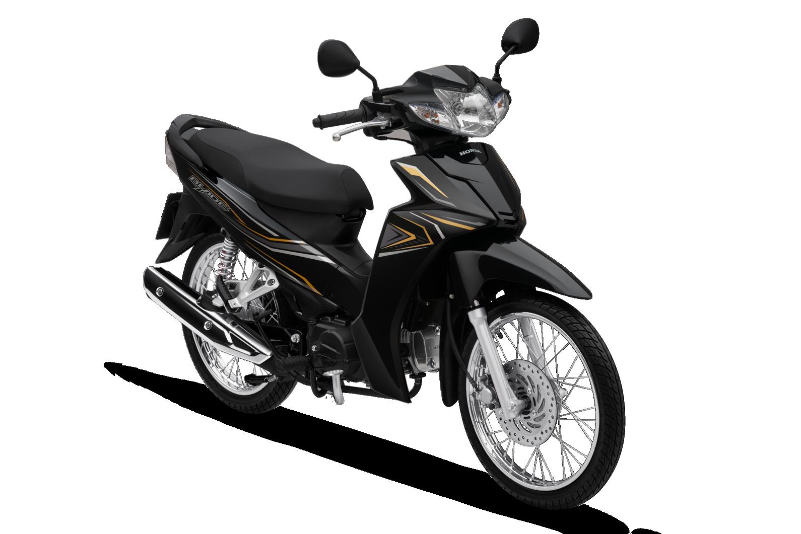 Honda Blade phiên bản tiêu chuẩn (phanh cơ, vành nan hoa) màu đen