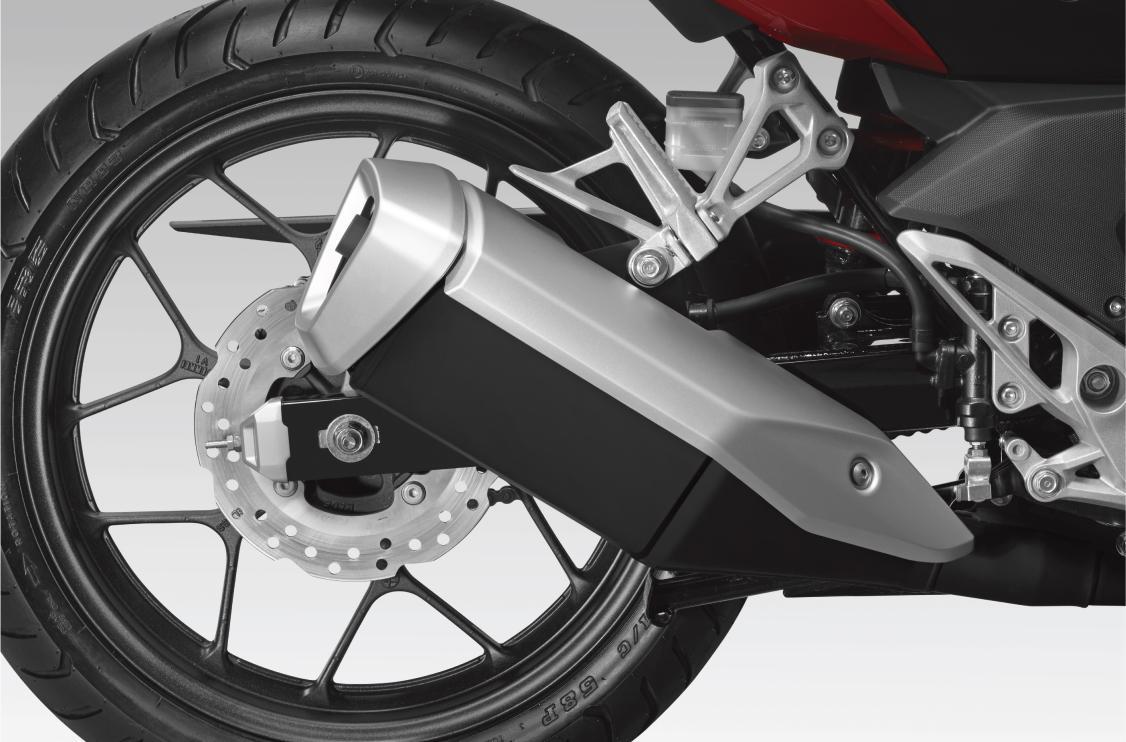Thiết kế ống xả của Honda Winner X 150cc cứng cáp