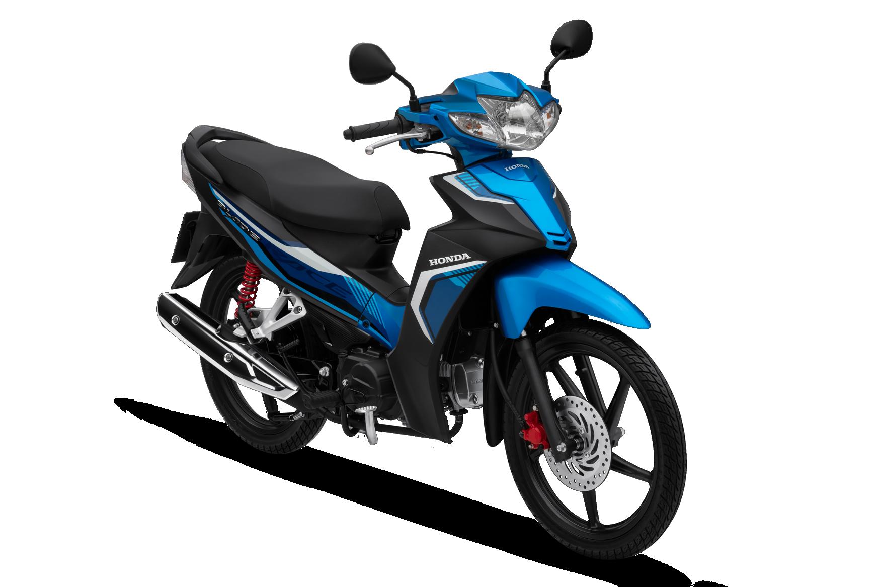 Honda Blade 2020 phiên bản thể thao vành đúc phanh đĩa màu xanh đen