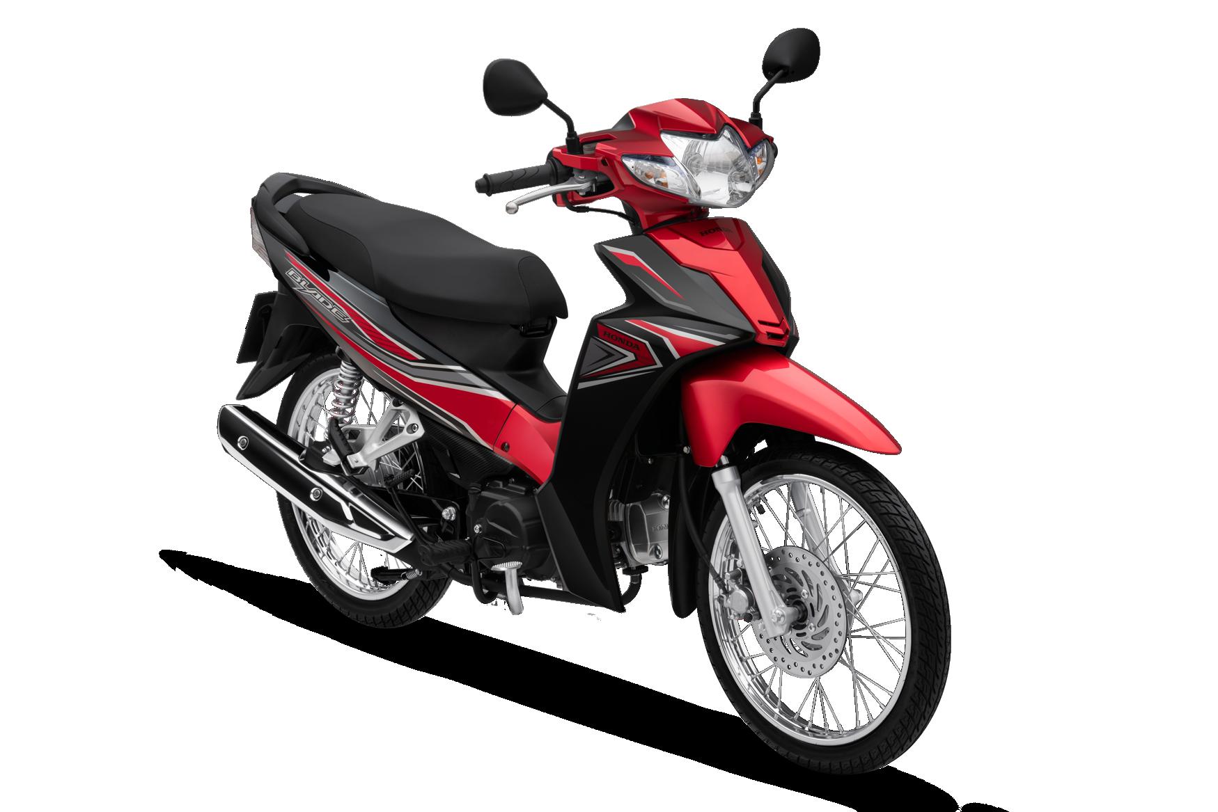 Honda Blade phiên bản tiêu chuẩn (phanh cơ, vành nan hoa) màu đỏ đen