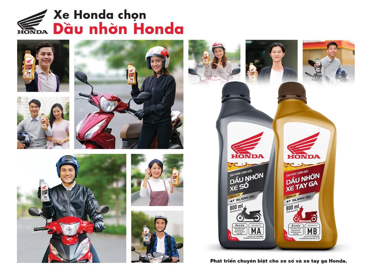 Xe Honda Chọn Dầu Nhớt Honda