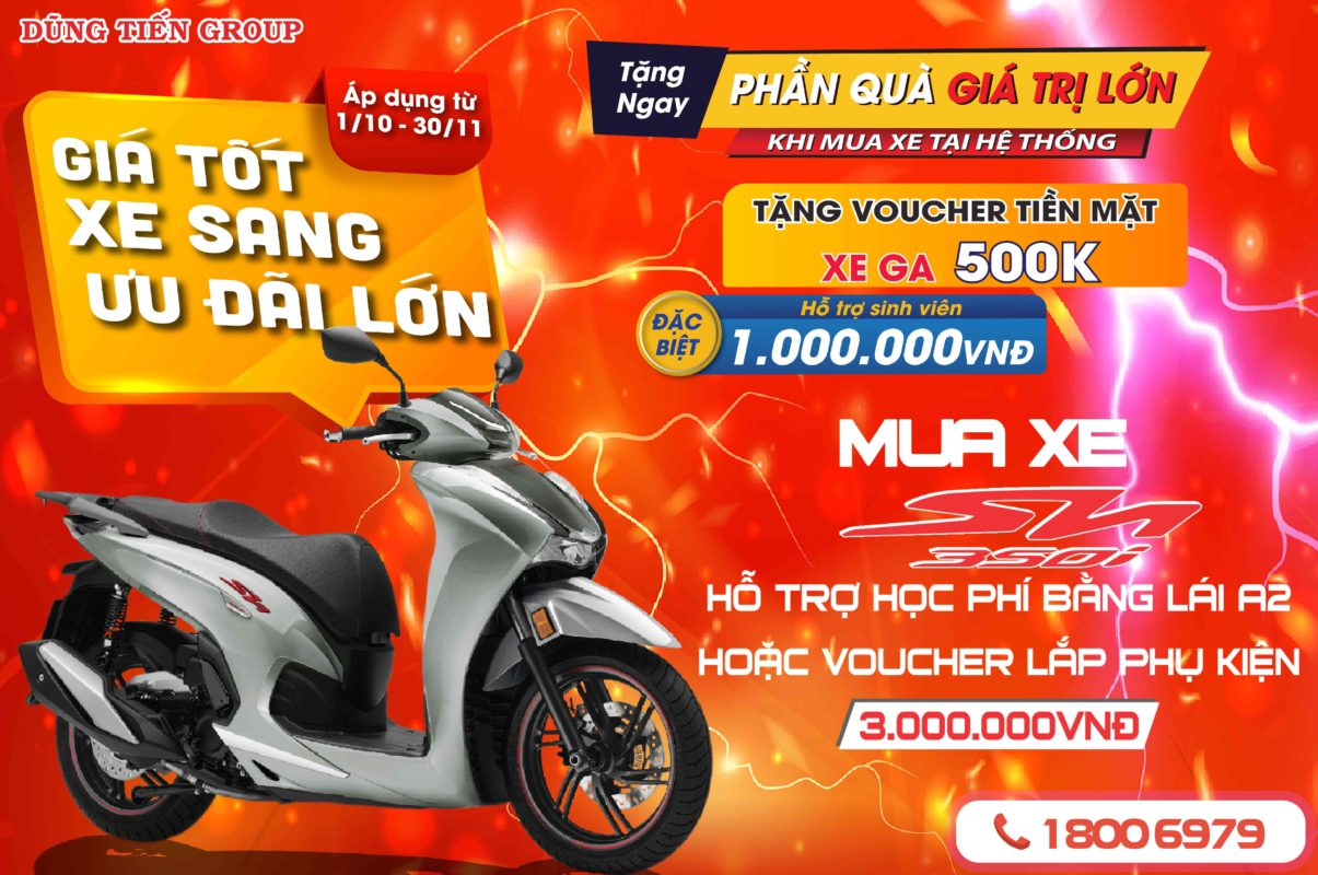 ưu đãi đặc biệt dành riêng cho khách hàng mua xe Honda SH 350i