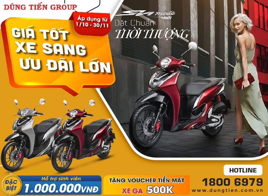 Giá xe Honda SH Mode tháng 10 năm 2021