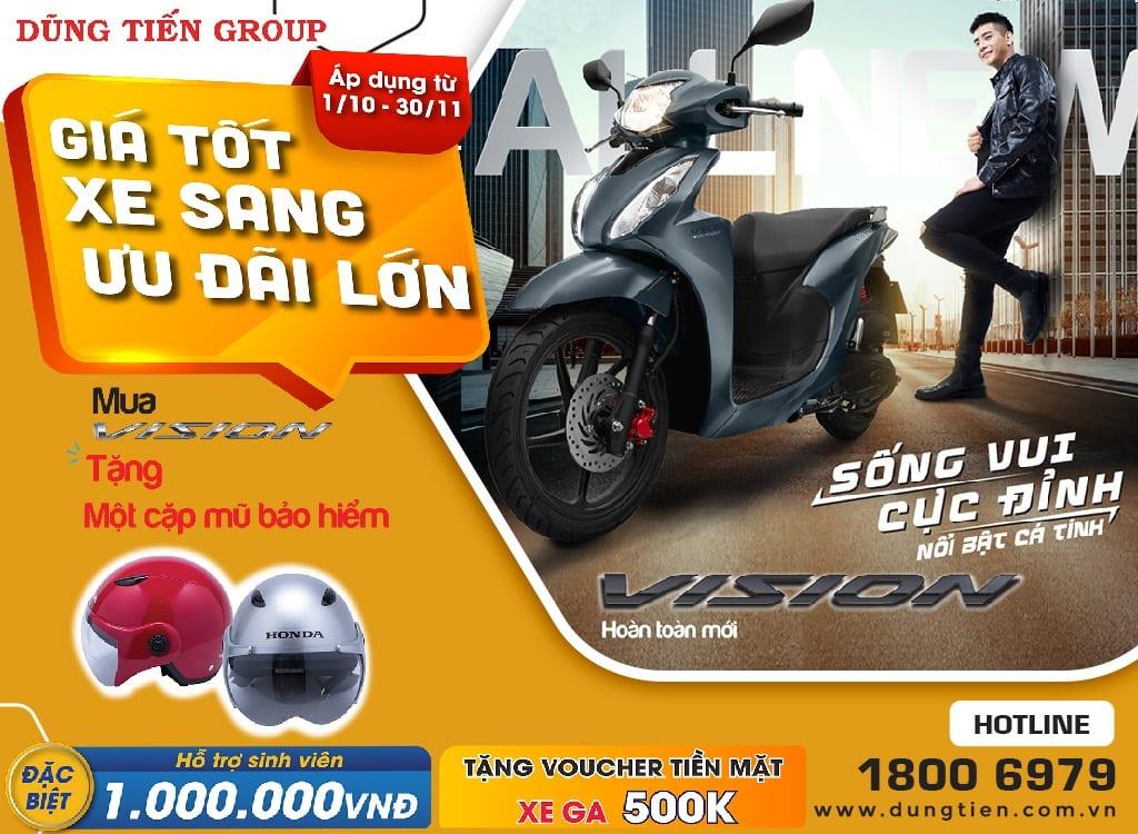 Giá xe Honda Vision tháng 10 năm 2021