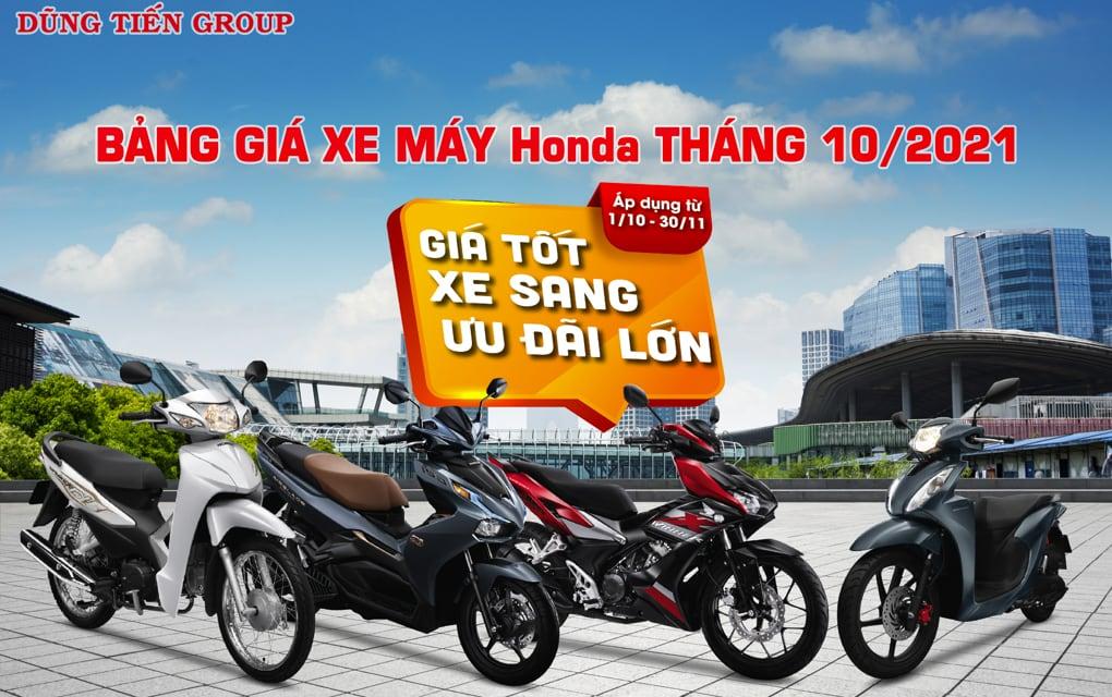 Bảng giá xe máy Honda tháng 10/2021