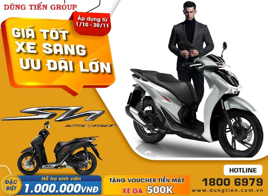 Giá xe Honda SH 125/150 tháng 10 năm 2021