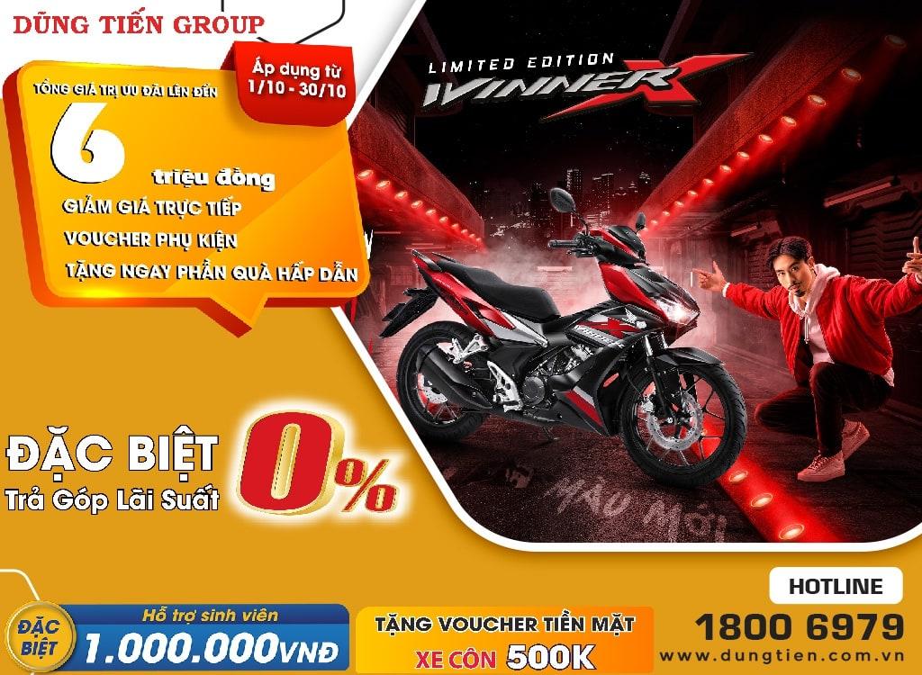 Giá xe Honda Winner X tháng 10 năm 2021